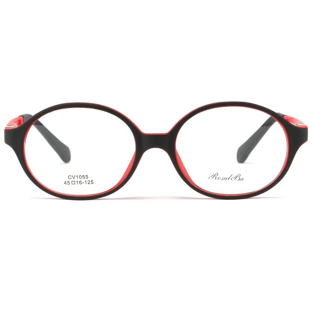 e7367fdb57249b Monture lunette enfant rouge 7 à 12 ans Kick, lunette ronde livré 48h!