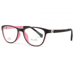 Monture lunette enfant rose et noir 7 à 12 ans Smile