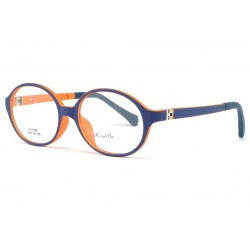 Monture lunette enfant bleu et orange 7 à 12 ans Kick Monture Lunette Enfant ROSALBA