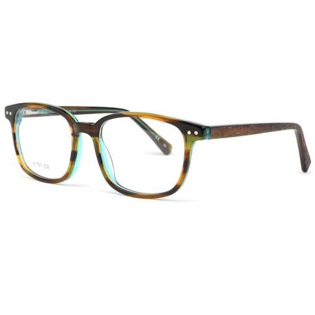 Monture lunette enfant bleu et marron 7 à 12 ans Bill