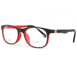 Monture lunette enfant noire et rouge 7 à 12 ans Gyms Monture Lunette Enfant ROSALBA
