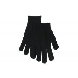 Gant noir extensible femme uni