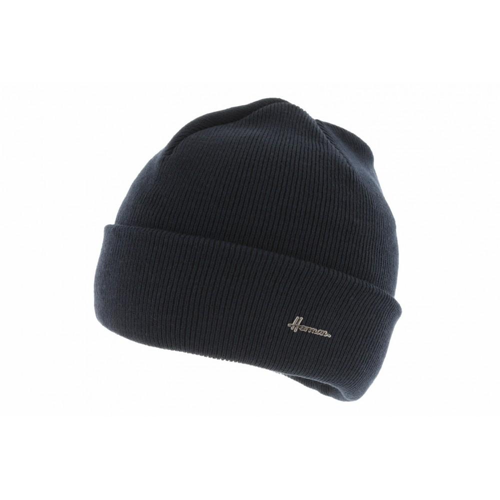 bonnet homme marine bonnet tricot bleu herman livr 48h. Black Bedroom Furniture Sets. Home Design Ideas