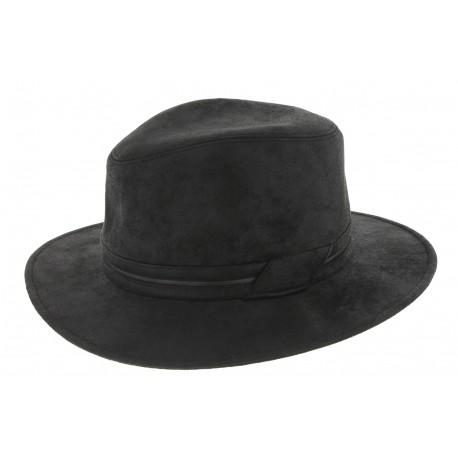 chapeau homme noir achat chapeau simili cuir. Black Bedroom Furniture Sets. Home Design Ideas
