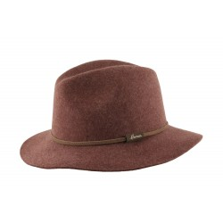 Chapeau Marron Feutre Macsoft Herman