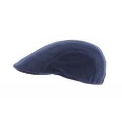 Casquette plate bleue piquée Marly Herman