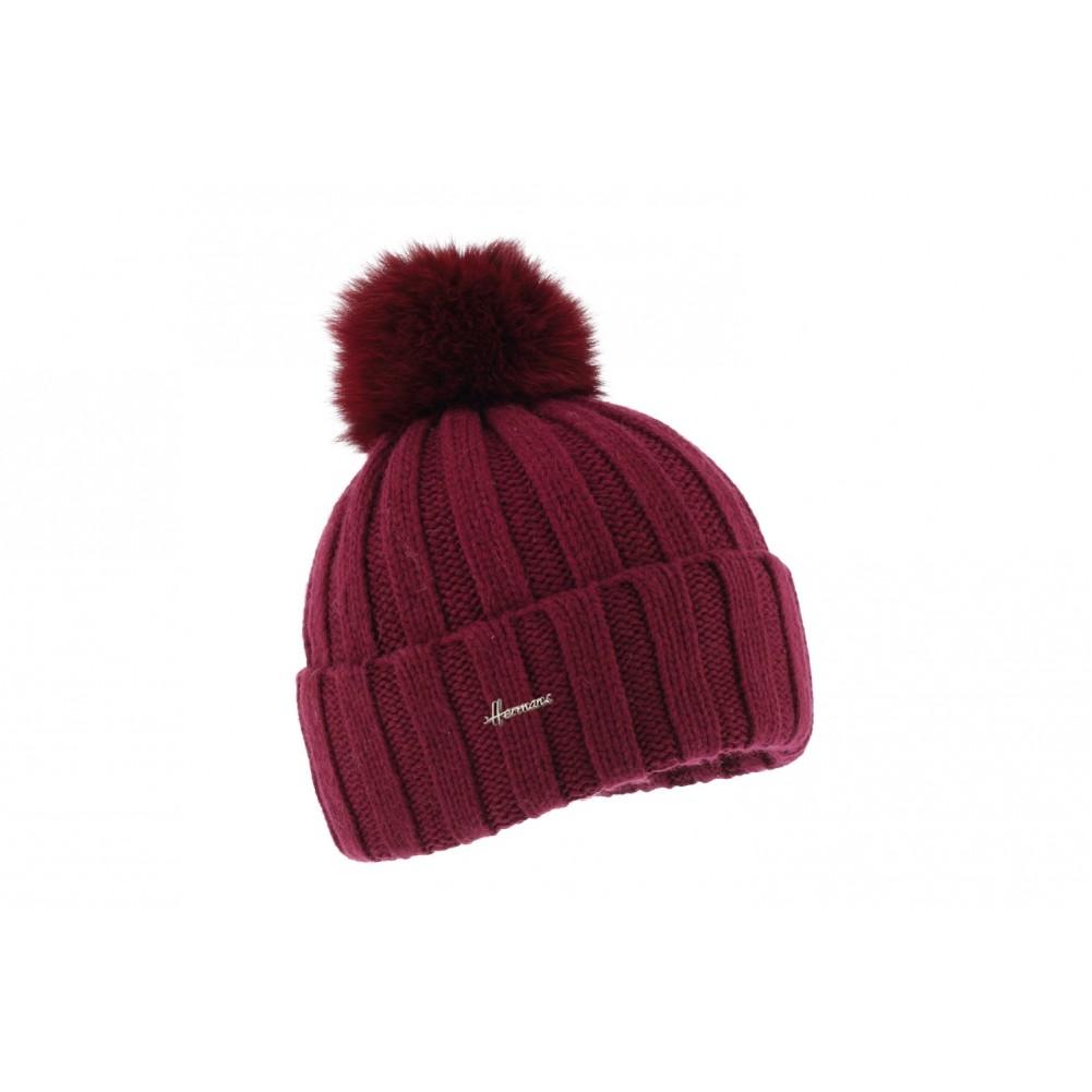 bonnet pompon fourrure rouge bonnet femme et homme angora. Black Bedroom Furniture Sets. Home Design Ideas