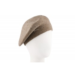 Béret Femme Taupe Louise Herman