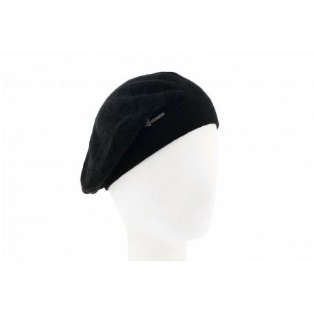 b ret noir fantaisie beret femme hiver avec strass classe livr 48h. Black Bedroom Furniture Sets. Home Design Ideas