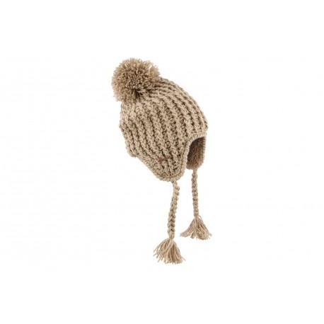 nouveau style c5ce2 1719a Bonnet péruvien enfant marron Herman, bonnet laine cool livré en 48h!