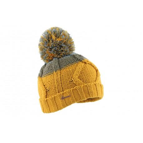 Bonnet pompon jaune enfant Mutin, bonnet garcon et fille livré en 48h! 663ee4d4be3