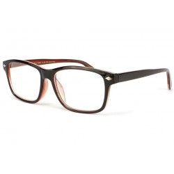 Lunette loupe rectangle marron Lyma
