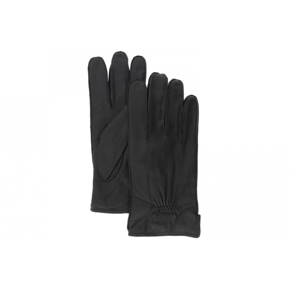 gants cuir noir exos herman gants homme doubl s laine livraison 48. Black Bedroom Furniture Sets. Home Design Ideas