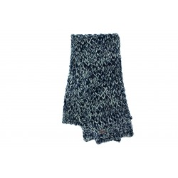 Echarpe bleu chinée beige en laine Frael Herman