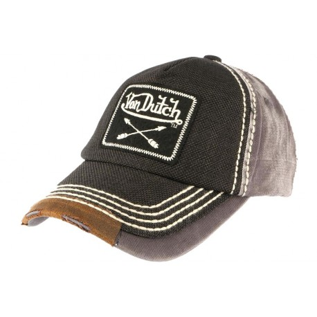 classique attrayant et durable nouveau produit Casquette Von Dutch Arrow Grise, casquette baseball homme livré en 48h