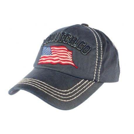 Casquette Von Dutch bleu Loris, casquette curve drapeau USA livré 48h! ada8528aebb1