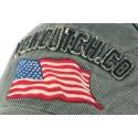 Casquette Von Dutch grise drapeau americain Loris