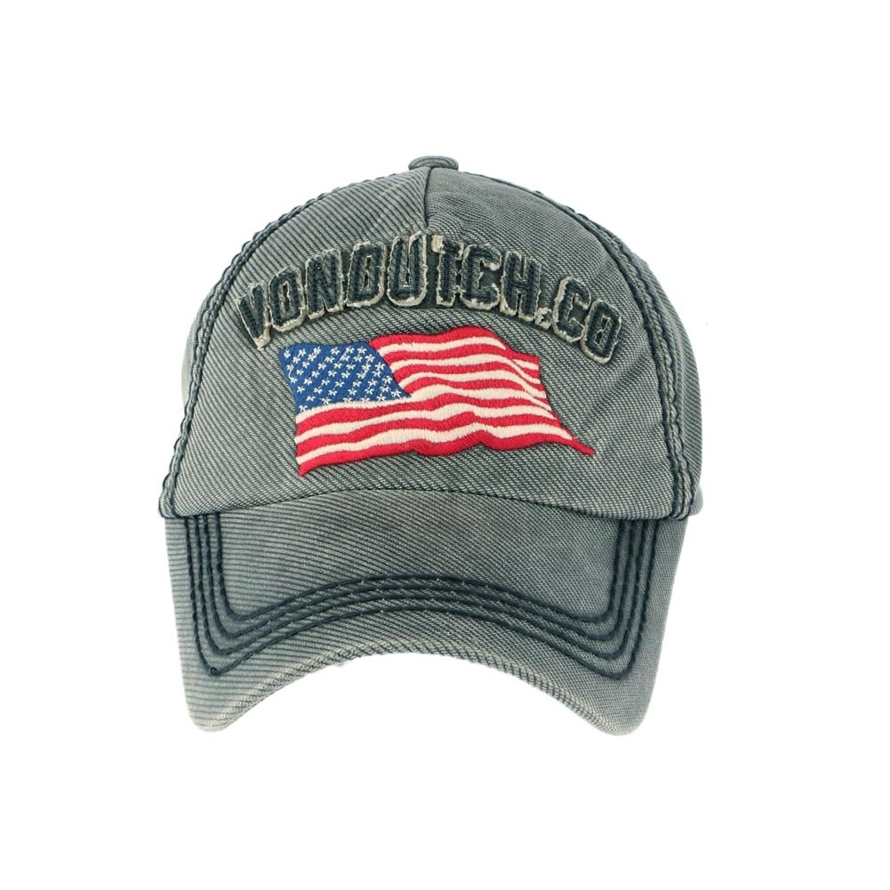 Casquette Von Dutch grise Loris, casquette curve drapeau USA livré 48h 478b1d8353c7