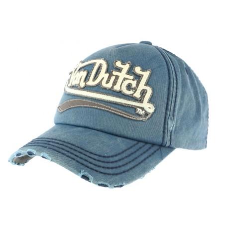 prix bas bien pas cher Casquette Von Dutch Bleue Signa, casquette americaine homme livré 48h!