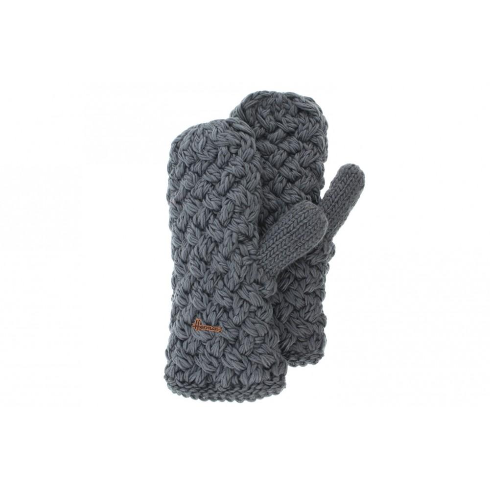 gants moufle grise laine herman moufle ski et city doubl livr 48h. Black Bedroom Furniture Sets. Home Design Ideas