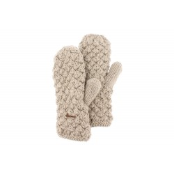 Gants moufle beige en laine Galin Herman