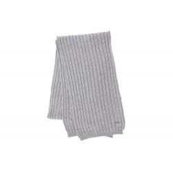Echarpe grise prestige en laine Herman
