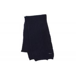 Echarpe bleu marine prestige en laine Herman