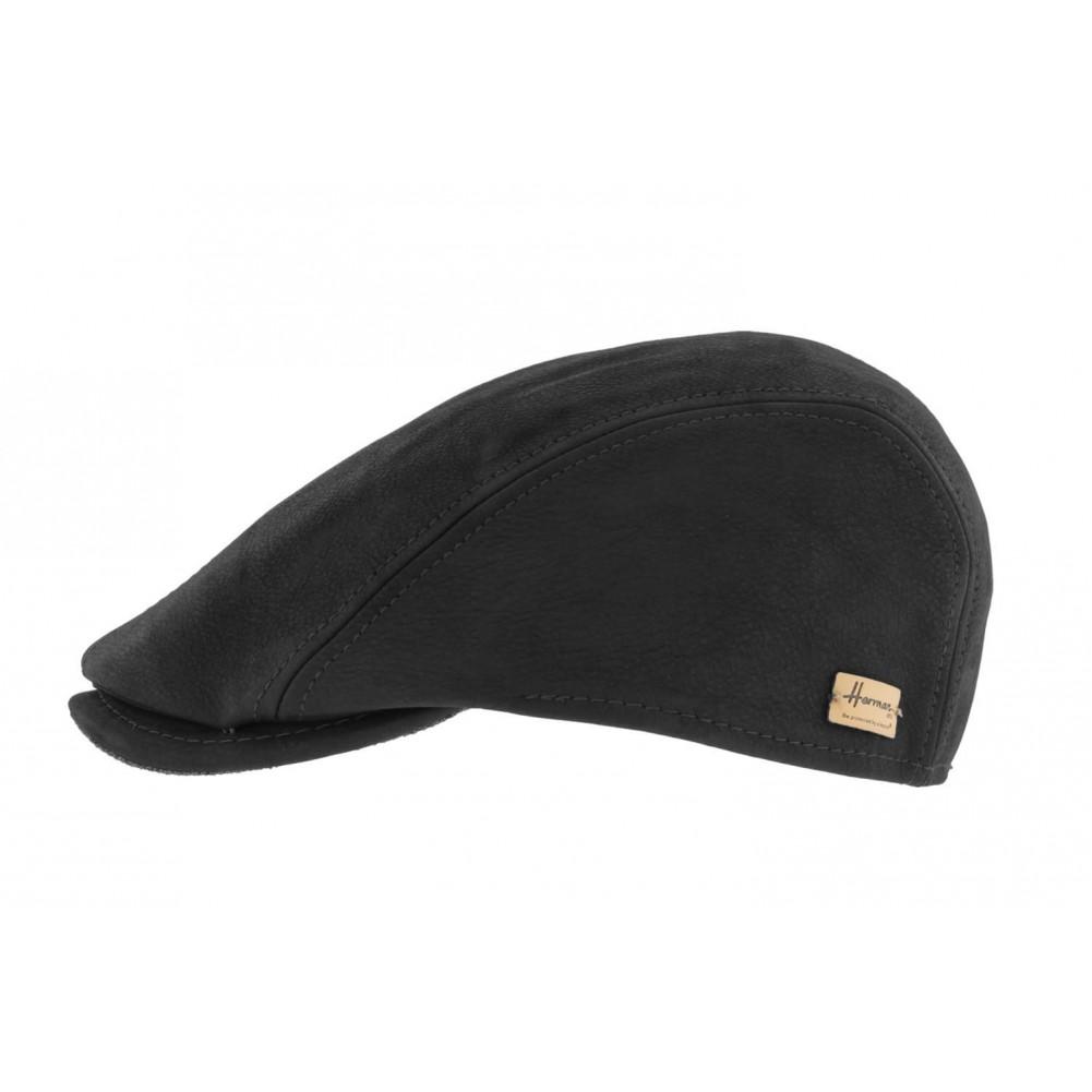 casquette cuir noir herman casquette en cuir homme l gant livr 48h. Black Bedroom Furniture Sets. Home Design Ideas