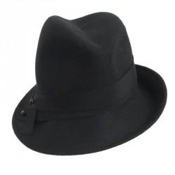 Chapeau Femme Giffray noire Chiné Céline Robert