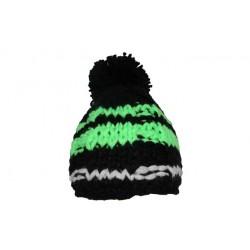 Bonnet à pompon Syros noir et vert ANCIENNES COLLECTIONS divers