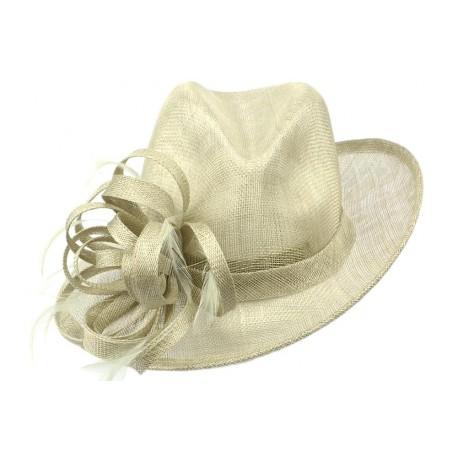 Chapeau Mariage Marron Clair Fryda Leon Montane