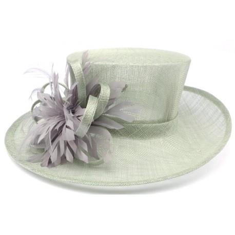 Chapeau Mariage Vert d'eau Livia Leon Montane