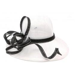 Chapeau Mariage Blanc et noir Loly Leon Montane