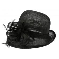Chapeau Mariage noir Melle Leon Montane