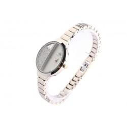Bracelet montre femme argent et strass Sola