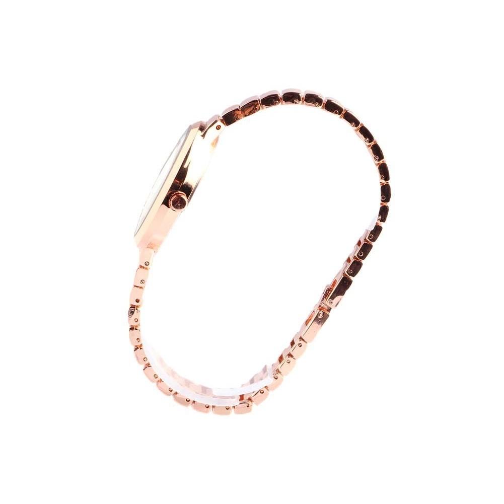 bracelet montre femme or rose et strass sola montre classe livr 48h. Black Bedroom Furniture Sets. Home Design Ideas