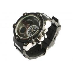 Montre homme chronometre noir bracelet gomme Koxos Montre Bellos