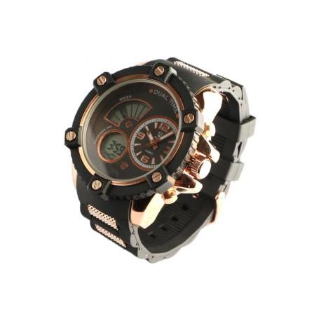 Montre homme chronometre dore bracelet gomme Koxos Montre Bellos