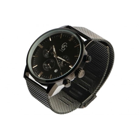 Montre chronographe noire homme Astor