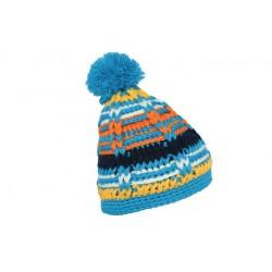 Bonnet à pompon Tinos bleu, jaune et blanc ANCIENNES COLLECTIONS divers