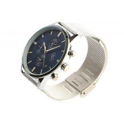 Montre chronographe bleu et argent homme Astor