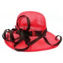 Chapeau Mariage Rouge et Noir Loly