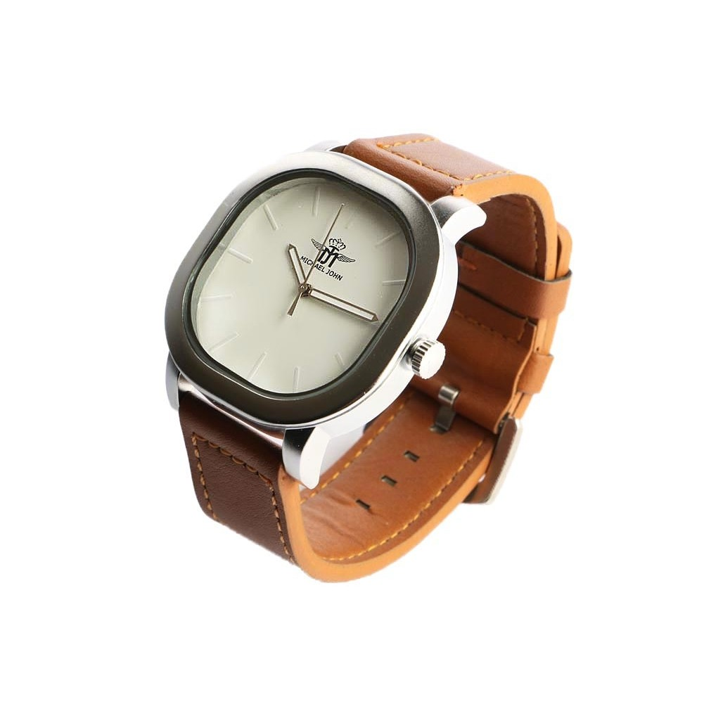 montre homme carr eleox montre bracelet cuir marron. Black Bedroom Furniture Sets. Home Design Ideas
