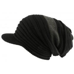 Bonnet casquette noir et gris rasta Mash Nyls Creation
