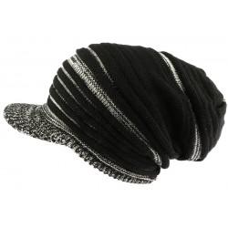 Bonnet casquette gris et noir rasta Tuff Nyls Creation BONNETS Nyls Création