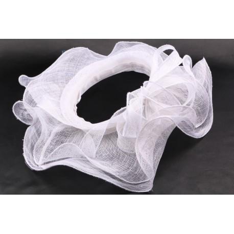 Chapeau mariée Alyzée en sisal blanchi