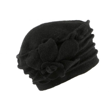 Beret toque laine noire Myria Léon Montane