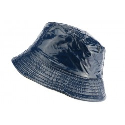 Chapeau pluie bleu Maud Nyls Création chapeau pluie Nyls Création