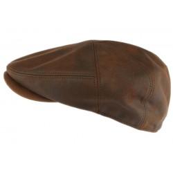 Casquette cuir marron suedine Dooker Aussie Apparel CASQUETTES Aussie Apparel