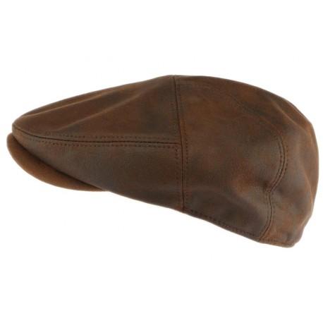 Casquette cuir marron suedine Dooker Aussie Apparel
